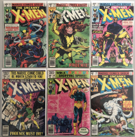 """Lot of (6) 1977-1979 Marvel """"Uncanny X-Men"""" 1st Series Comic Books with #133, #135, #136, #137, #138 & #140"""