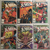"Lot of (6) 1977-1979 Marvel ""Uncanny X-Men"" 1st Series Comic Books with #158, #159, #160, #161, #162 & #166"