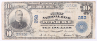 1902 $10 Ten Dollars U.S. National Currency Large Bank Note - First National Bank at Pittsburgh, Pennsylvania