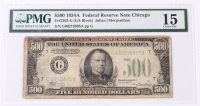 1934-A $500 Five Hundred Dollars Federal Reserve Note (PMG 15) at PristineAuction.com