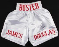 "James ""Buster"" Douglas Signed Boxing Trunks Inscribed ""Tyson KO 2/11/90"" (MAB Hologram)"