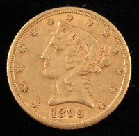 1899-S $5 Five Dollar Liberty Head Gold Coin