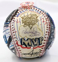 "Derek Jeter Signed Charles Fazzino Hand-Painted 2000 World Series MVP Baseball Inscribed ""WS MVP"" (JSA LOA)"