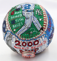 "Derek Jeter Signed Charles Fazzino Hand-Painted 2000 World Series MVP Baseball Inscribed ""WS MVP"" (JSA LOA) at PristineAuction.com"