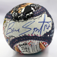 Bruce Springsteen Signed Charles Fazzino Hand-Painted Baseball (PSA Hologram)