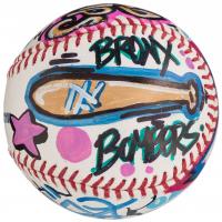 Derek Jeter Signed Hand-Painted Cope2 Graffiti Baseball (Steiner COA) at PristineAuction.com