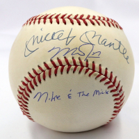 "Mike Trout & Mickey Mantle Signed OAL Baseball Inscribed ""Mike & The Mick"" (UDA Hologram & MLB Hologram)"