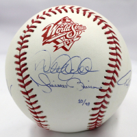 """New York Yankees LE """"Core Four"""" Official 1998 World Series Baseball Signed by (4) with Derek Jeter, Mariano Rivera, Andy Pettitte & Jorge Posada (Steiner COA & MLB Hologram)"""