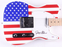 "Gregg Allman Signed Full-Size ""American Flag"" Electric Guitar (PSA Hologram) at PristineAuction.com"