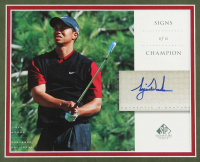 "Tiger Woods Signed ""The Masters"" 25.5x31.5 Custom Framed Autograph Card Display at PristineAuction.com"