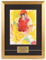 "Johnny Bench Signed ""LeRoy Neiman"" 16x21 Custom Framed Print Display Inscribed ""HOF 89"" (Beckett COA)"