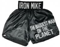 "Mike Tyson Signed ""Iron Mike"" Boxing Trunks (JSA COA)"