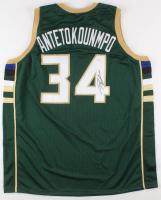 "Giannis Antetokounmpo Signed Milwaukee Bucks ""Greek Freak"" Jersey (JSA COA)"