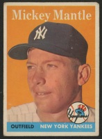 1958 Topps #150 Mickey Mantle at PristineAuction.com