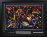 "Greg Horn Signed LE ""Wolverine vs. Deadpool"" 20x26 Custom Framed Lithograph Display (JSA COA) at PristineAuction.com"