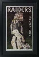"Ken Stabler ""Oakland Raiders: The Great Ones"" 20x29 Custom Framed Lithograph Display Signed by Artist Merv Corning (Stabler LOA)"