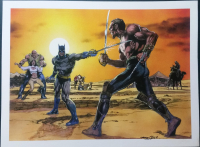 "Neal Adams Signed ""Batman vs. Ra's Al Ghul"" 18x24 Giclee (PA LOA) at PristineAuction.com"