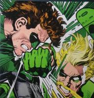 "Neal Adams Signed ""Green Lantern vs. Green Arrow"" 20x20 Giclee (PA LOA)"