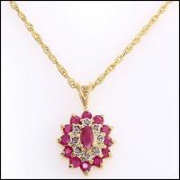 5.92 CT Ruby & Diamond Elegant Necklace