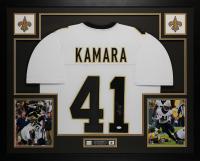 Alvin Kamara Signed 35x43 Custom Framed Jersey (JSA COA) at PristineAuction.com