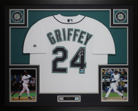 Ken Griffey Jr. Signed 35x43 Custom Framed Jersey (Beckett COA & TriStar Hologram) at PristineAuction.com