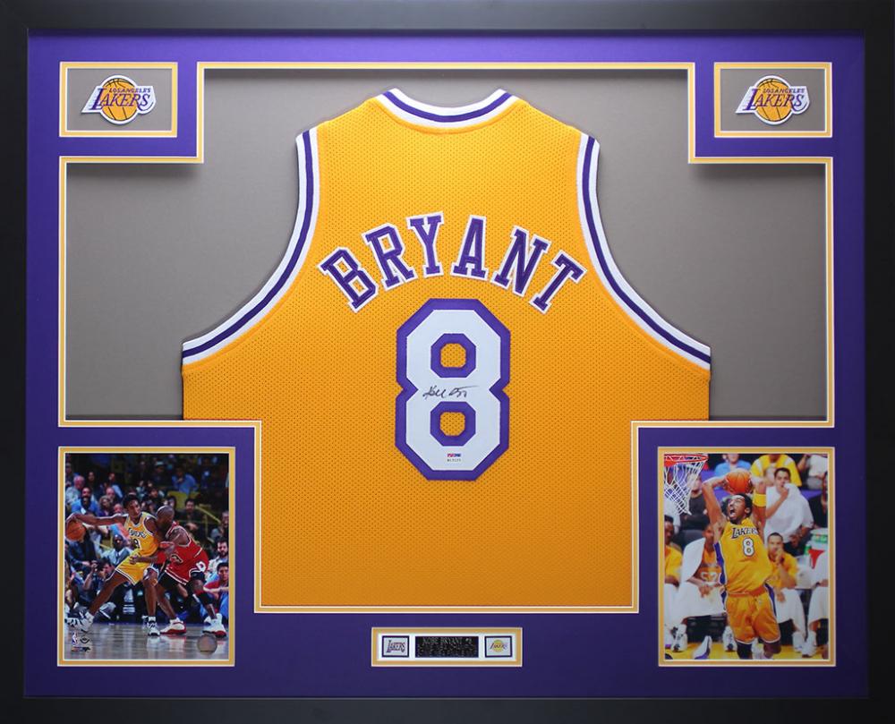 7b8388932b2 Kobe Bryant Signed Los Angeles Lakers 35x43 Custom Framed Jersey (PSA COA)  at PristineAuction
