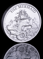 2 oz The Mermaid High Relief Silver Bullion Round
