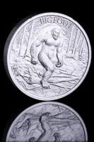 2 oz Bigfoot High Relief Silver Bullion Round
