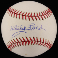 Whitey Ford Signed OML Baseball (Beckett COA)