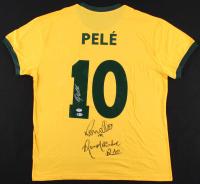 Pele, Ronaldo, & Ronaldinho Signed Brazil Jersey (Beckett LOA & PSA Hologram)