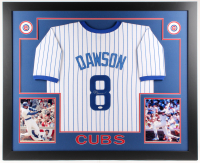 Andre Dawson Signed Chicago Cubs 35x43 Custom Framed Jersey (JSA COA)