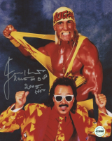 """Jimmy Hart Signed WWE 8x10 Photo Inscribed """"Mouth of the South"""" & """"2005 HOF"""" (Fiterman Sports Hologram)"""