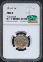 1918-S 5¢ Buffalo Nickel (NGC AU 53) (CAC) at PristineAuction.com