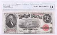 1917 $2 Two Dollars Legal Tender Large Bank Note (CGA 64)