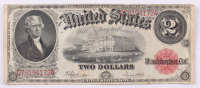 1917 $2 Two Dollars Legal Tender Large Bank Note