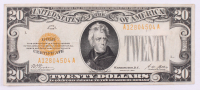 1928 $20 Twenty Dollars U.S. Gold Certificate Currency Bank Note Bill