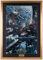 """1977 Original Promotional """"Star Wars: Episode IV -  A New Hope"""" 27x38 Custom Framed Movie Poster"""