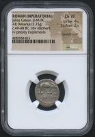 49-48 BC Original Roman Empire - Julius Ceasar - AR Denarius Silver Coin (NGC Ch VF)