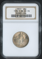 1917 25¢ Standing Liberty Quarter - Type 1 (NGC MS 63 FH)