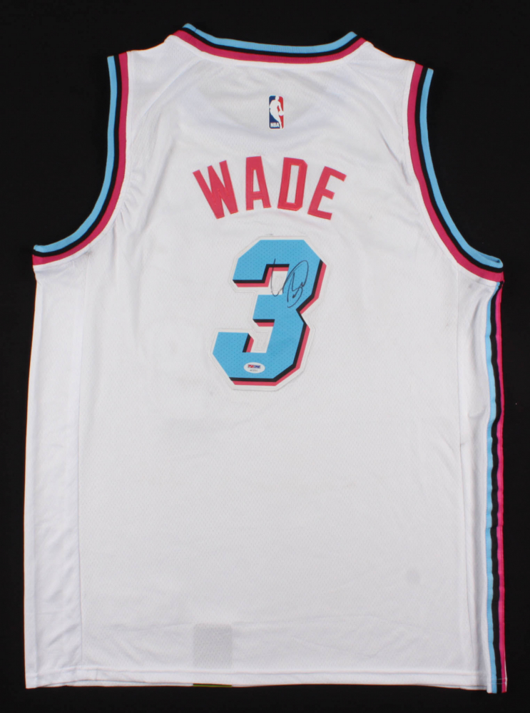 9440389e4a6f Dwayne Wade Signed Miami Heat Jersey (PSA COA) at PristineAuction.com