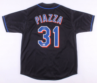 Mike Piazza Signed New York Mets Jersey (Dave & Adams COA & JSA Hologram)