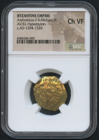 AD 1294-1320 Original Byzantine Empire - Andronicus II & Michael IX - Gold Hyperpyron Ancient Coin (NGC CH VF) at PristineAuction.com