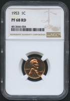 1953 1¢ Lincoln Wheat Penny - Proof (NGC PF 68 RD) at PristineAuction.com