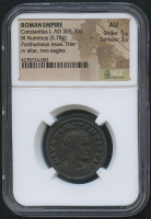 AD 305-306 Original Roman Empire - Divus Constantius I - BI Nummus Coin - Posthumous Issue (NGC AU) at PristineAuction.com