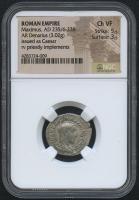 AD 235-238 Original Roman Empire - Maximus - AR Denarius Coin - Issued as Ceasar (NGC VF)