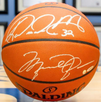 Michael Jordan, Karl Malone, Larry Bird & Magic Johnson Signed Official NBA Spalding Basketball (UDA COA)