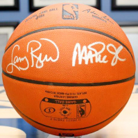 Michael Jordan, Karl Malone, Larry Bird & Magic Johnson Signed Official NBA Spalding Basketball (UDA COA) at PristineAuction.com