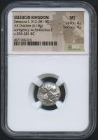 BC 312-281 Original Seleucid Kingdom - Seleucus I - AR Drachm Coin (NGC MS) at PristineAuction.com