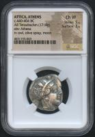 BC 440-404 Original Attica, Athens - AR Tetradrachm Coin (NGC VF)