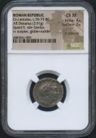 BC 76-75 Original Roman Republic - Cn. Lentulus - AR Denarius Coin (NGC XF) at PristineAuction.com